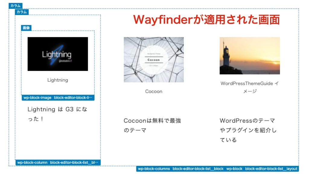 Wayfinderの画面
