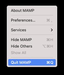 MAMPの終了方法