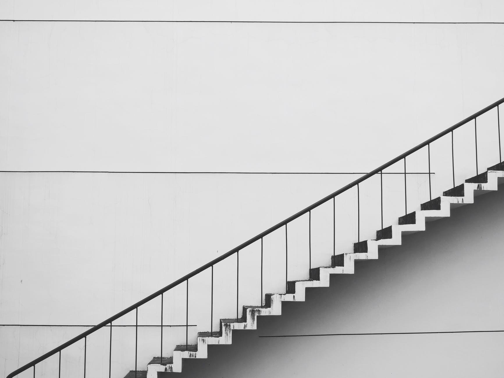 contemporary gradient handrails perspective